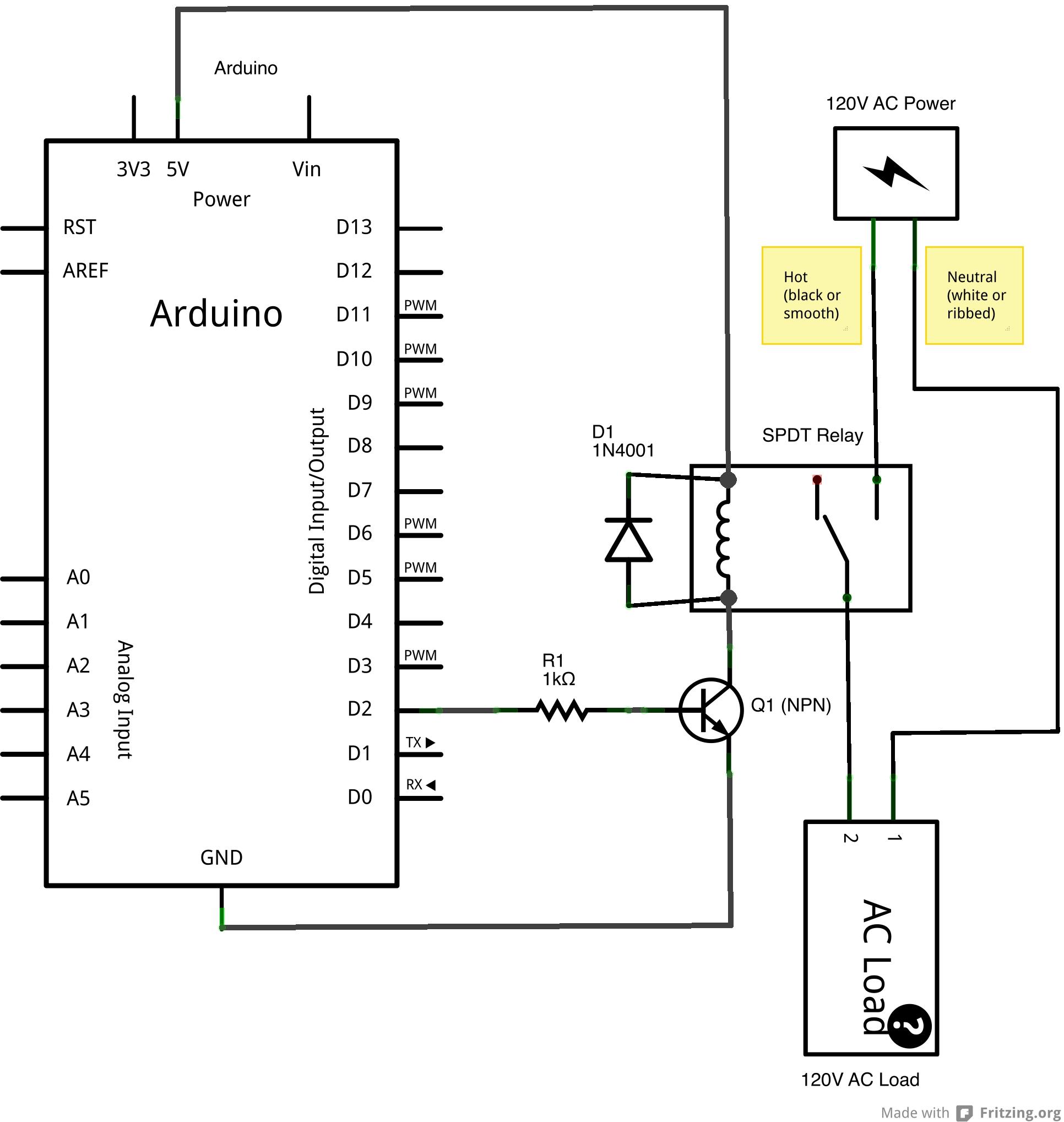 Spdt Relay Wiring Diagram