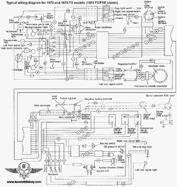 yh2849 for a harley ironhead xlch wiring diagram schematic