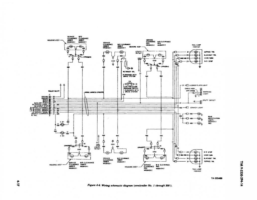 Semi Trailer Light Plug Wiring Diagram