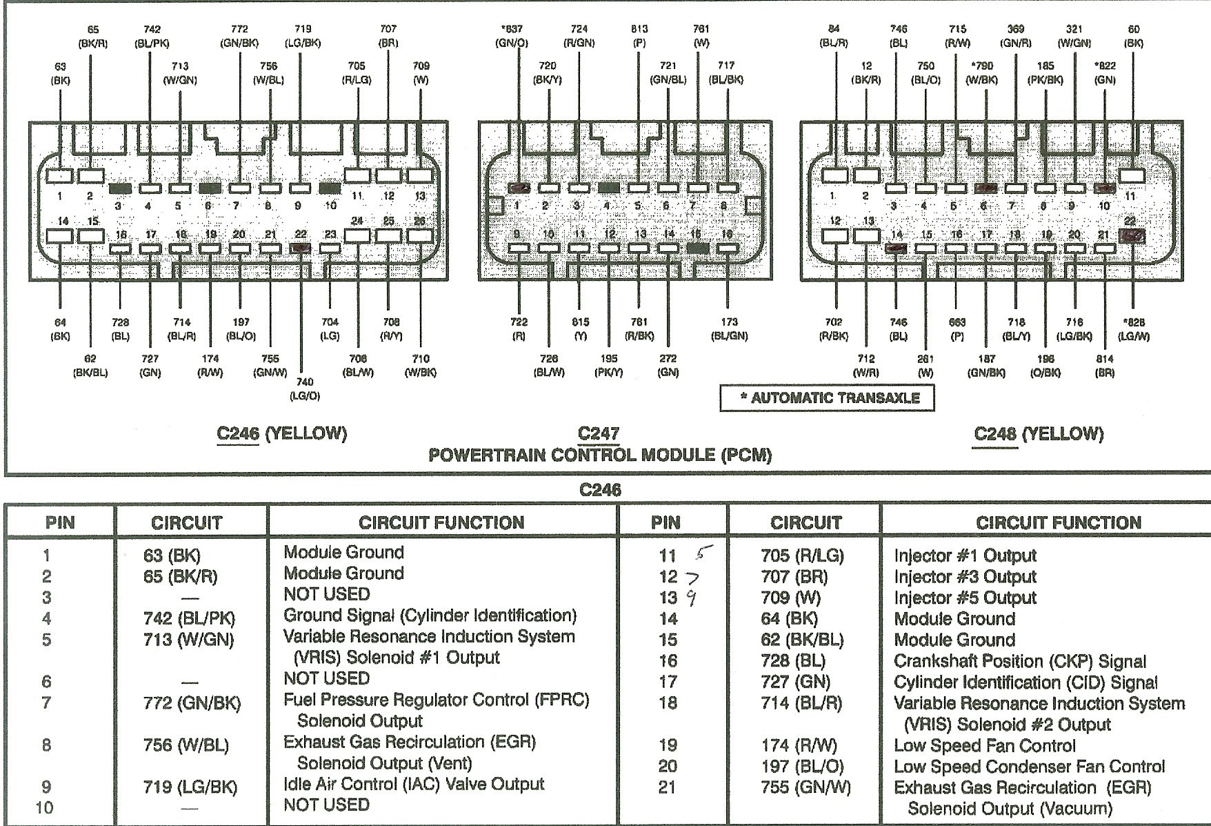 Ford Explorer Pcm Wiring Diagram