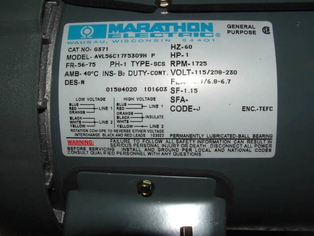 marathon motor single phase wiring diagram  12 vdc wiring