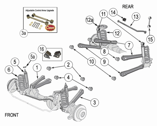 2004 Jeep Grand Cherokee Front End Parts Diagram | Reviewmotors.co