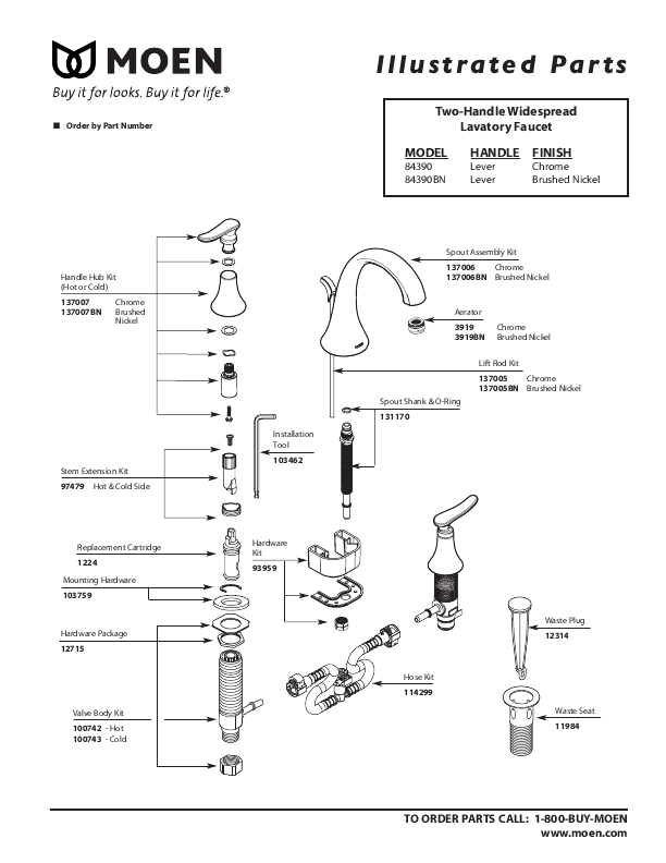 moen bathroom faucet single handle