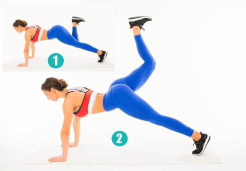 Image result for Bear Plank Leg Lifts