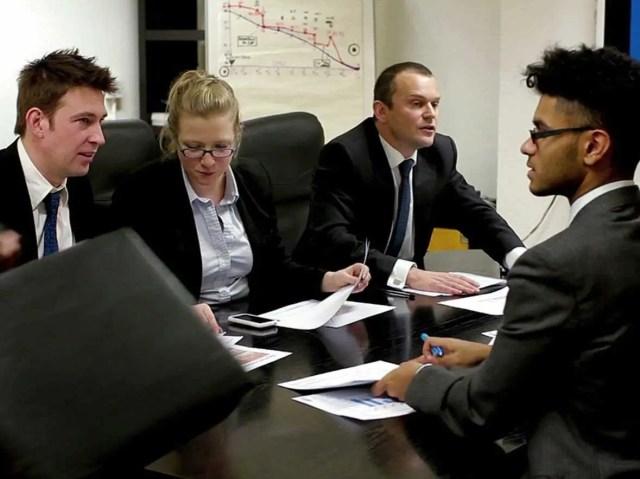 office, meeting, boss