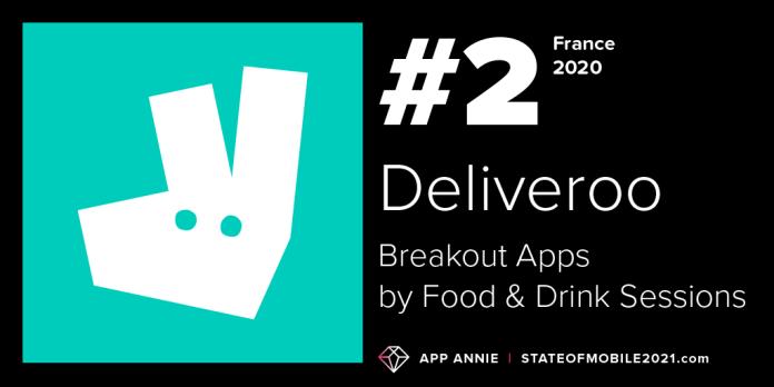 deliveroo food delivery app france breakout app