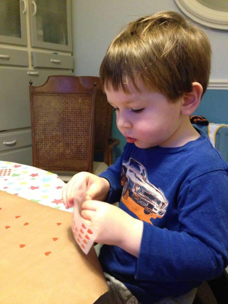 toddler sticking