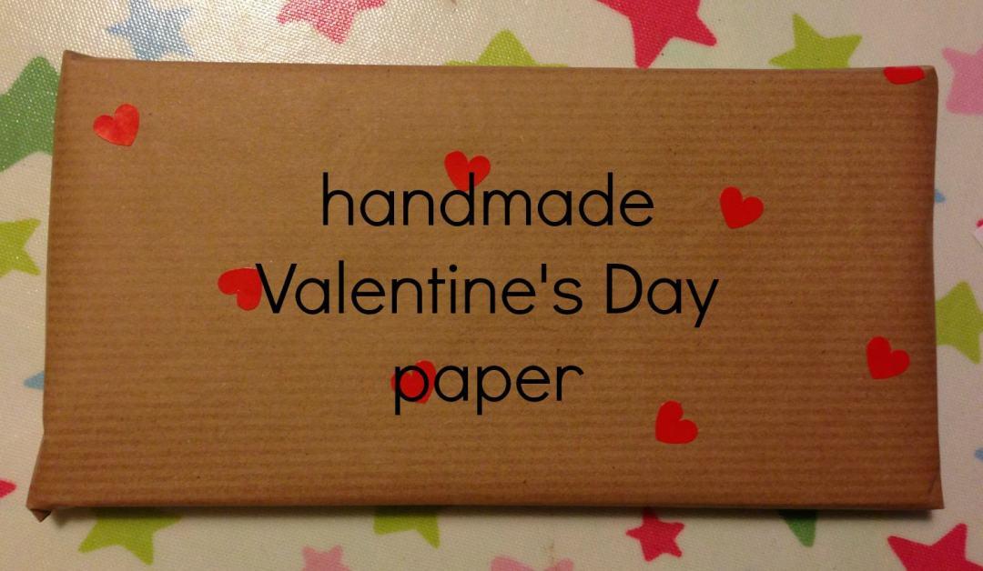 handmade Valentine's Day paper