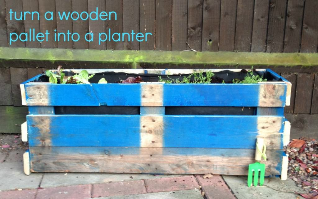 upcycled pallet wooden planter