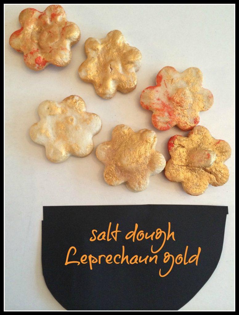 salt dough leprechaun gold