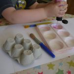 making Peppa Pig nose - the gingerbread house