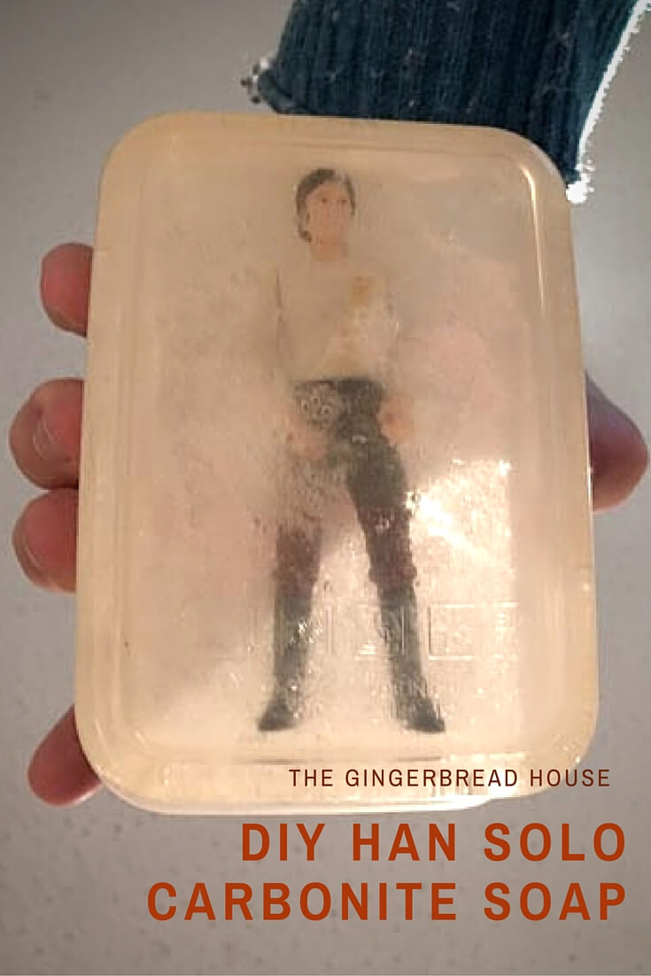 DIY Han Solo Carbonite soap craft