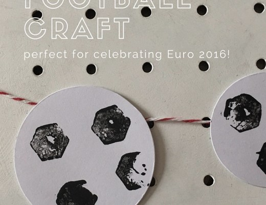 Cork stamped footballs craft for kids to celebrate Euro 2016