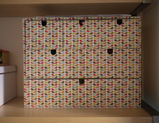 Orla Kiely covered mini chest of drawers