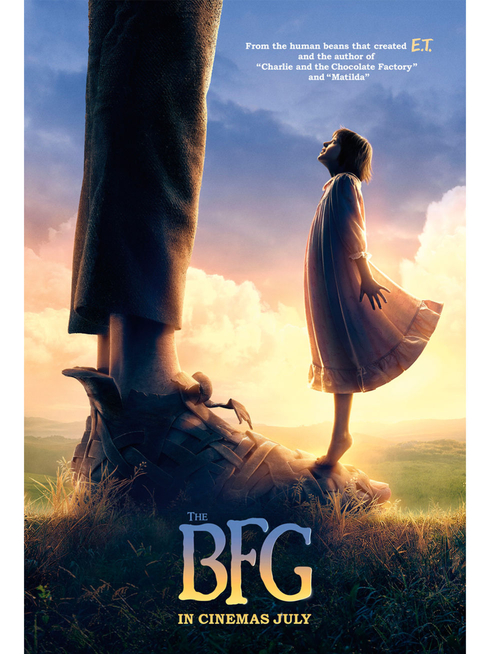 The BFG by Steven Spielberg film poster