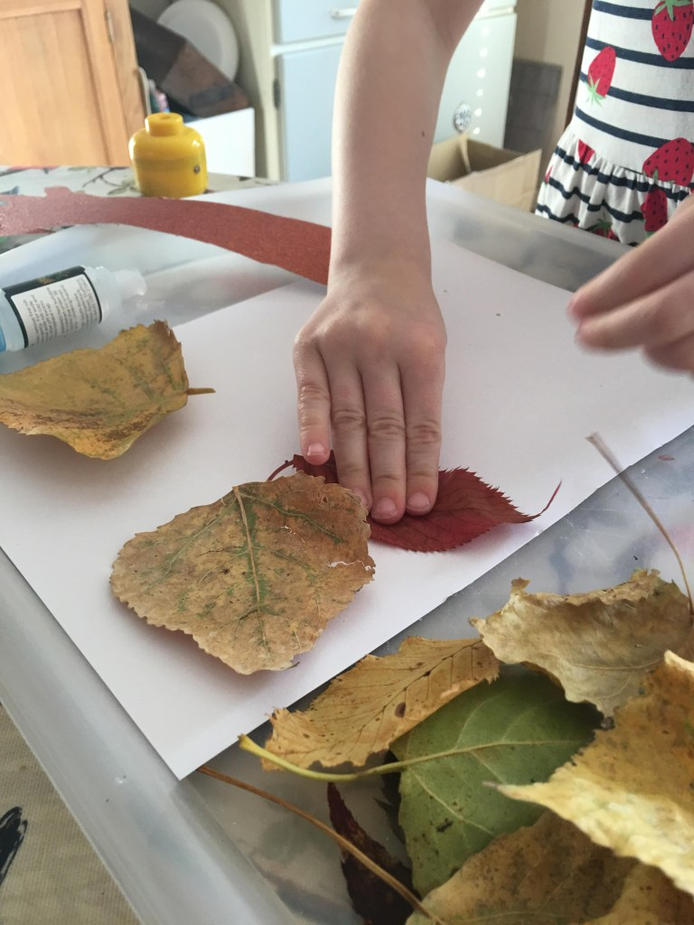 hand print Autumn tree craft