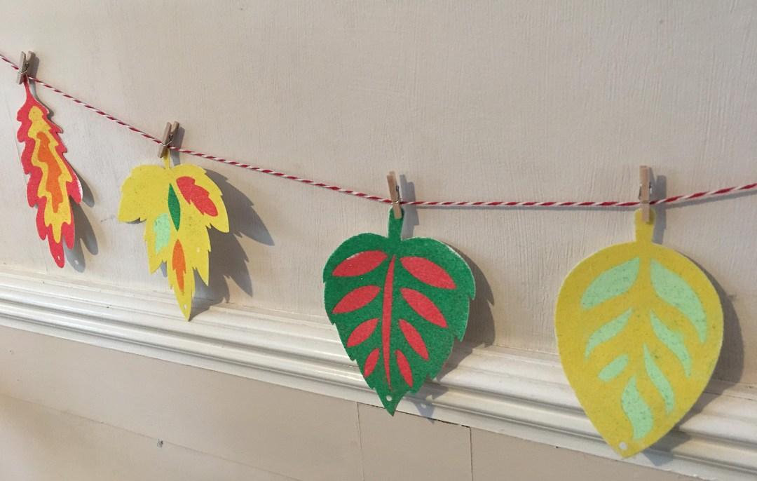 autumn leaves banner for kids