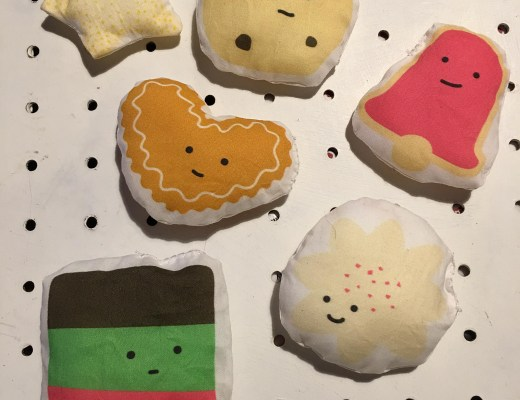 fabric gingerbread cookies for kids to play with