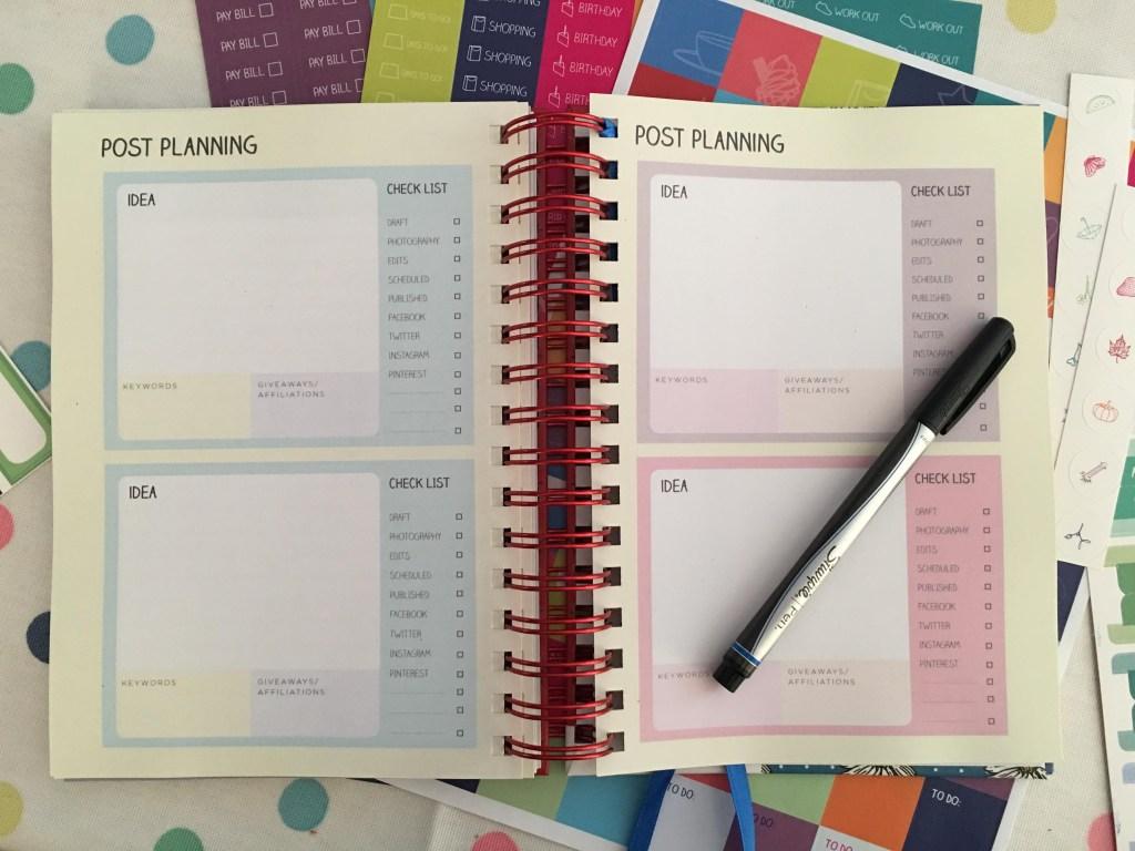 bloggers planner