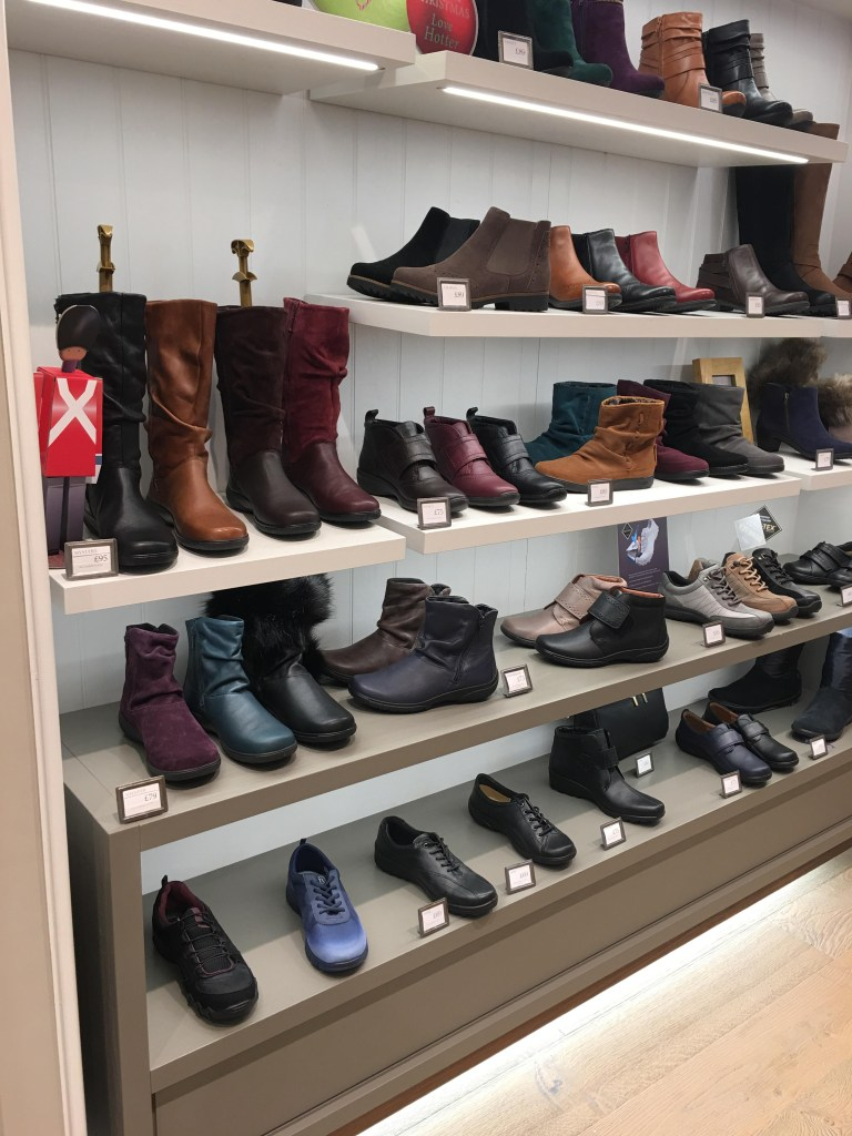 Hotter boots display