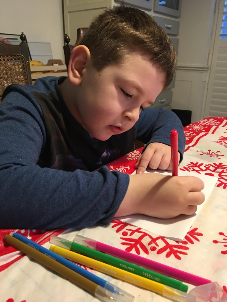 free colour in Thank You cards for kids to make