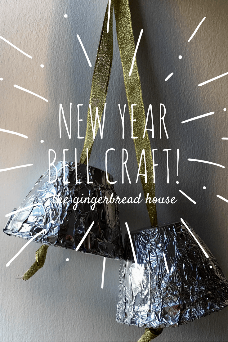 New Year recycled bells craft for New Year
