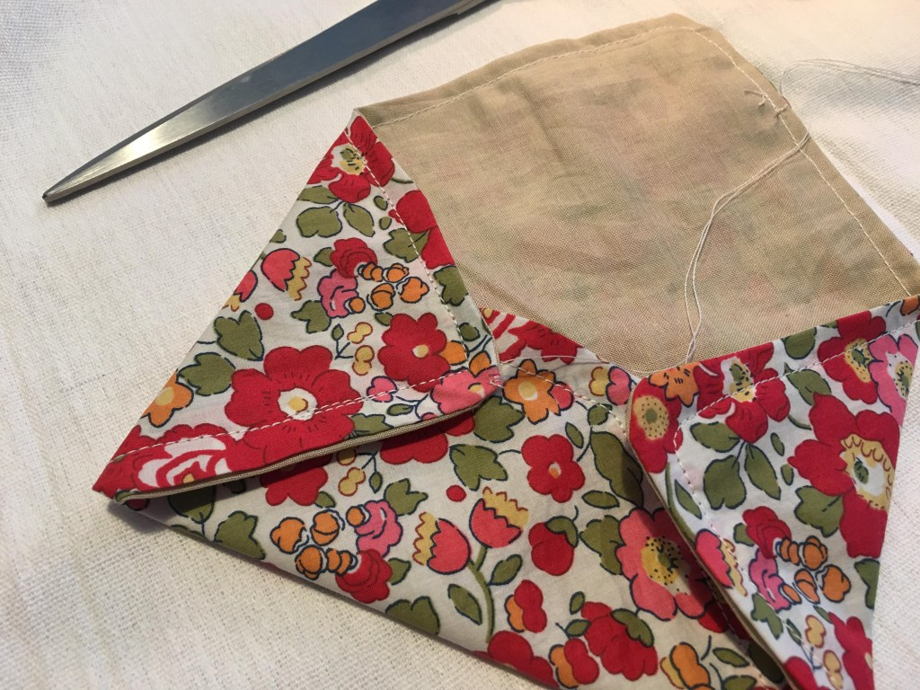 Liberty and linen fabric envelope