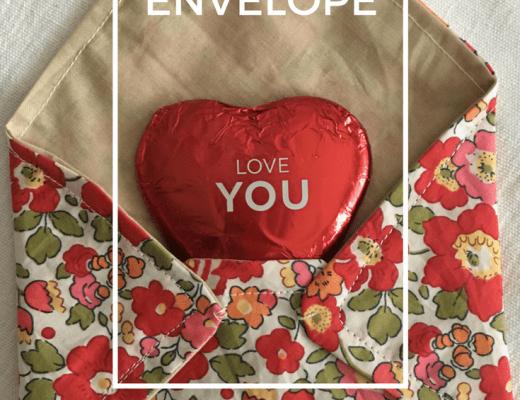 Liberty fabric envelope tutorial