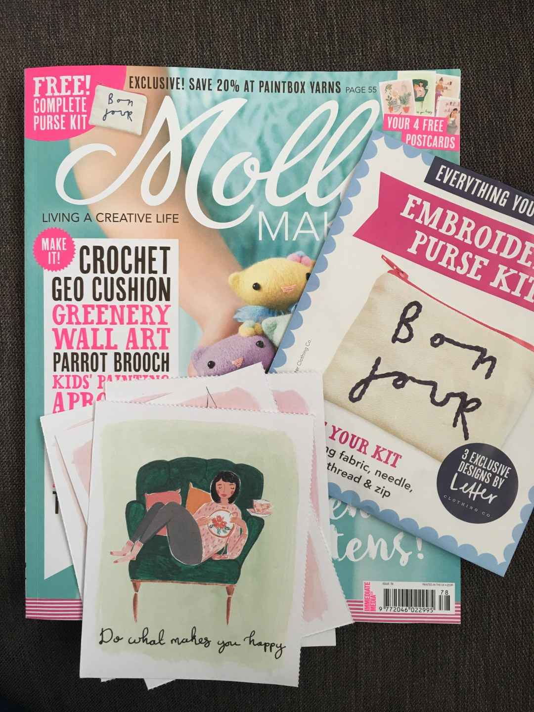 Mollie Makes Embroidery Purse Kit