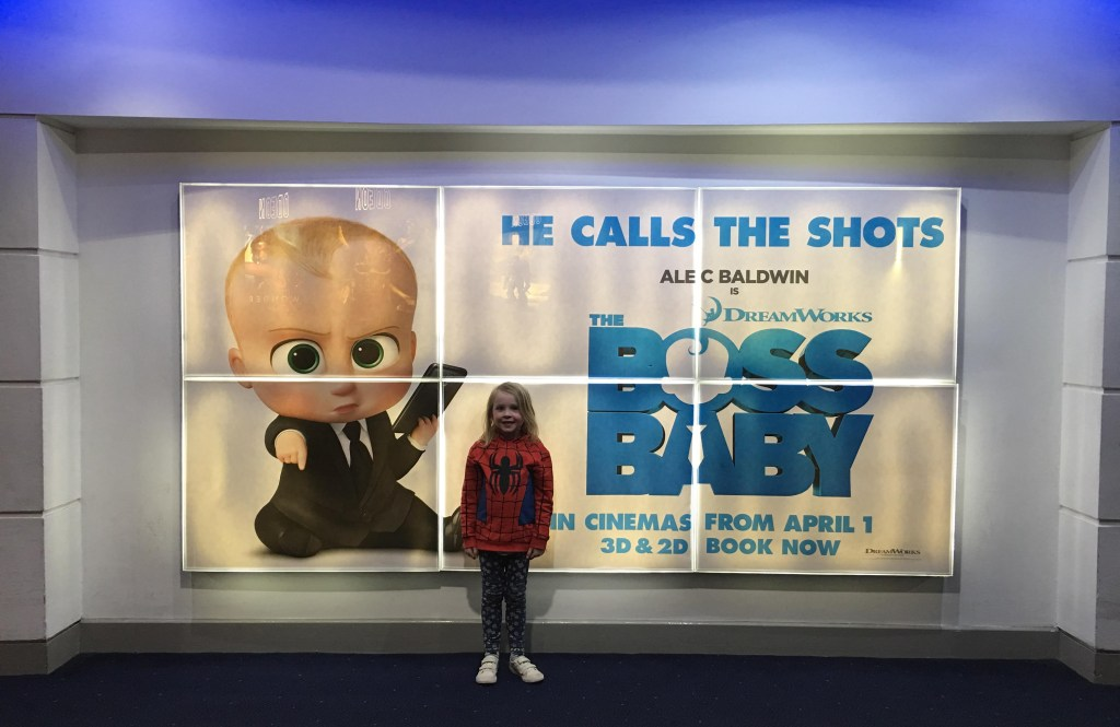 watching Boss Baby at the cinema