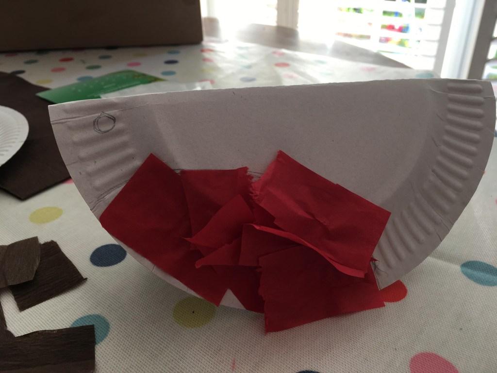 Paper plate bird craft for kids