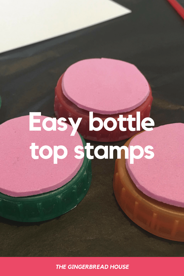 Easy bottle top stamps tutorial