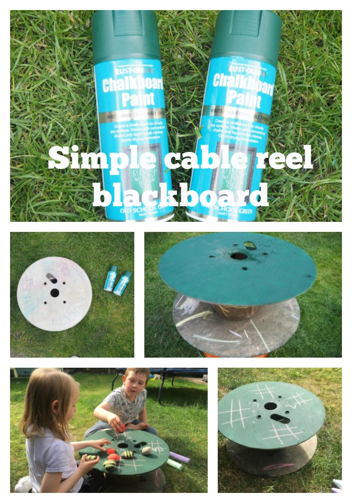 How to make a simple cable reel blackboard