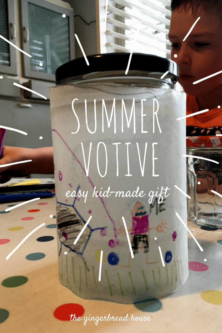easy Summer votive craft for kids