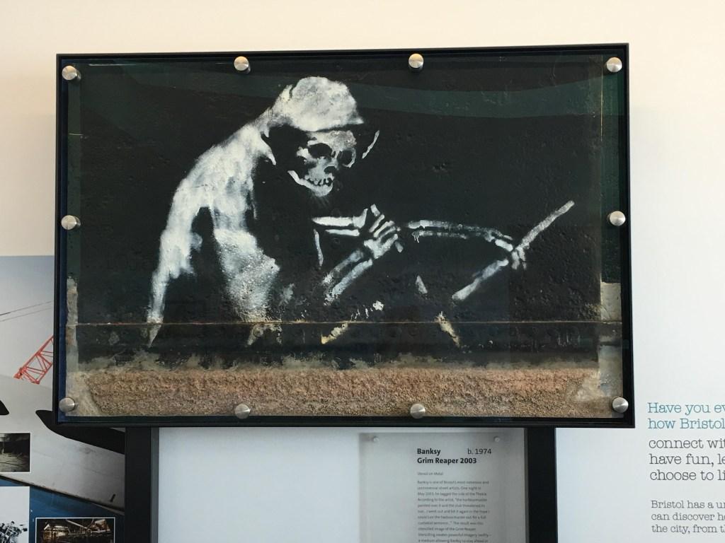 Banksy's Grim Reaper M Shed Bristol