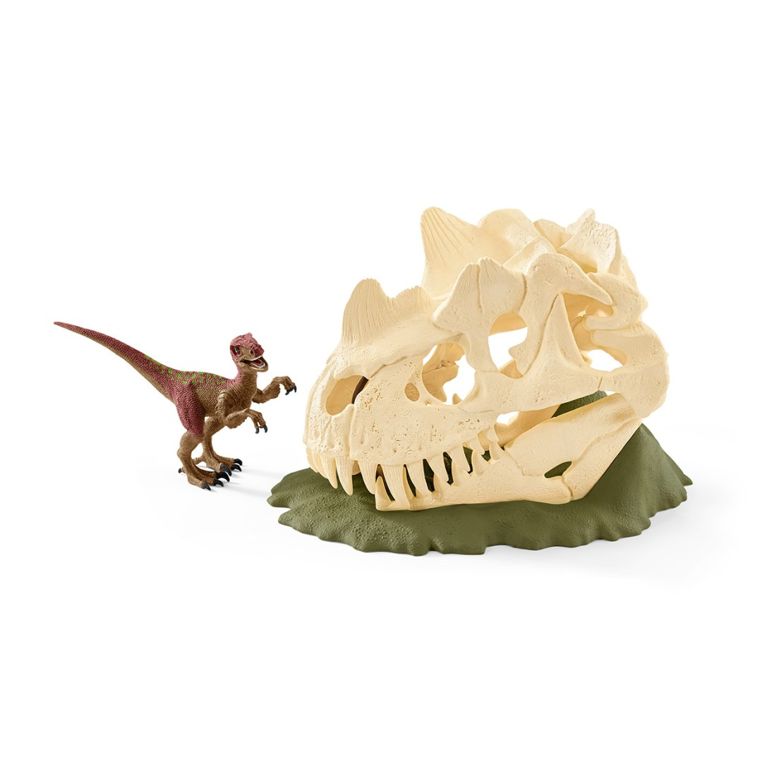 Scleich Large Skull Trap With Velociraptor