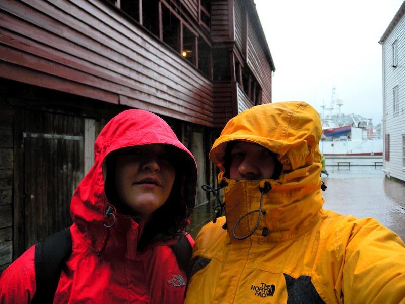 a wet day in Bergen, Norway