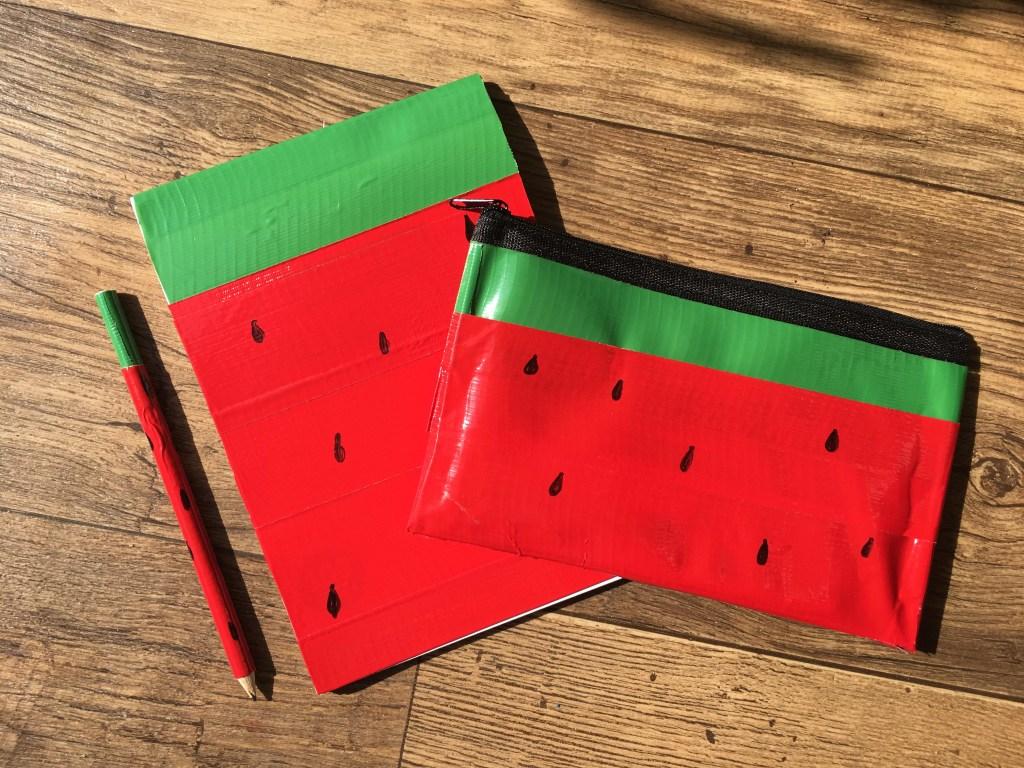 duck tape watermelon pencil case