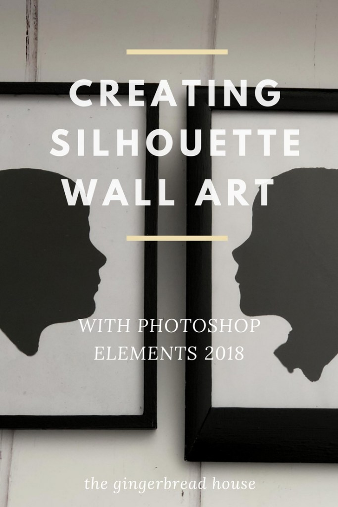 Creating Silhouette Wall Art with Adobe PHOTOSHOP Elements 2018