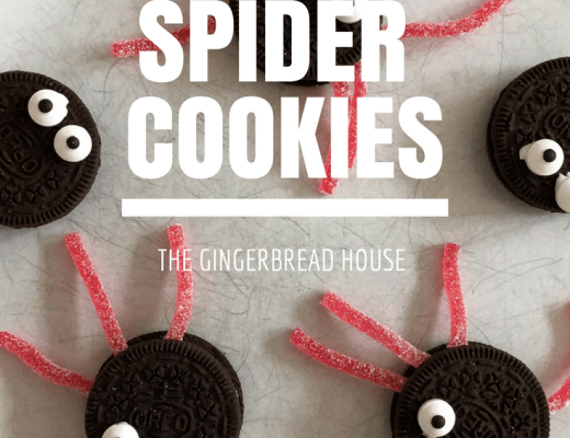 Oreo spider cookies for Halloween
