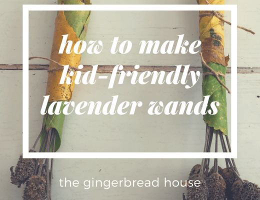Kid-friendly lavender wands
