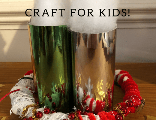 Advent candle wreath craft for kids to make