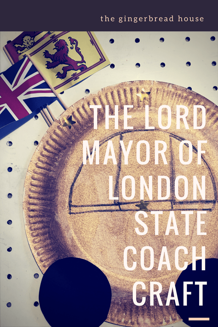 The Lord Mayor of London State Coach craft for kids