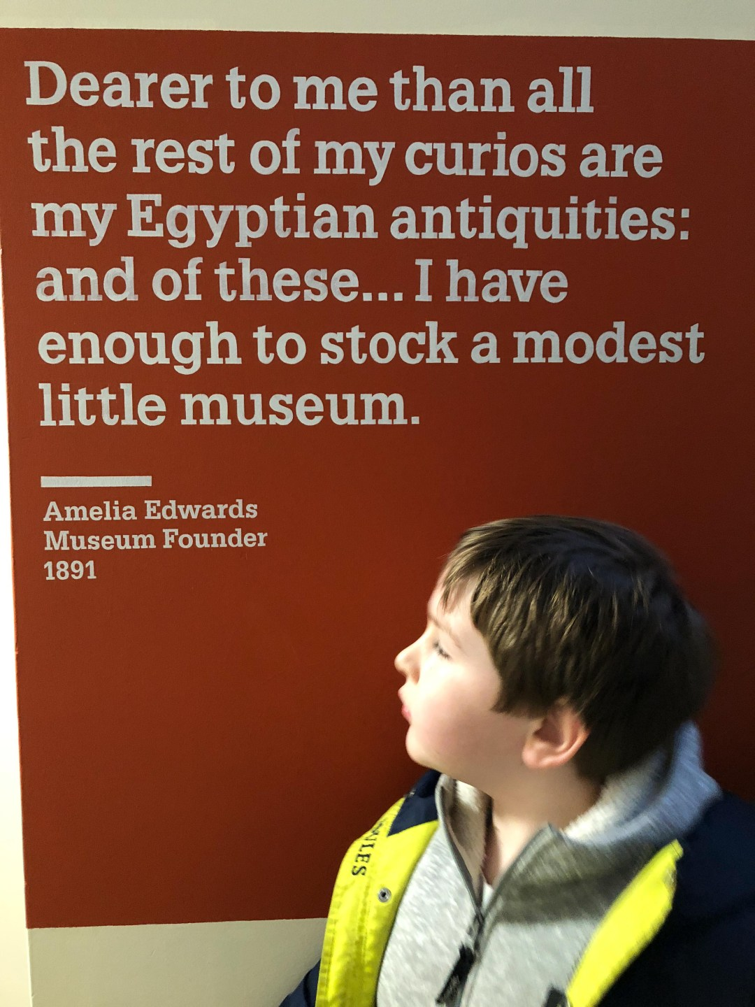 The Petrie Museum with kids