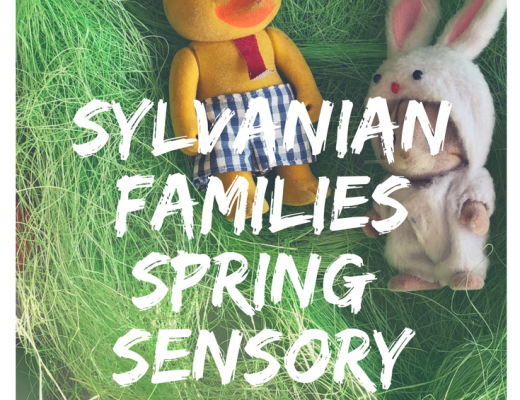Items for a Sylvanian Families Spring Sensory tray