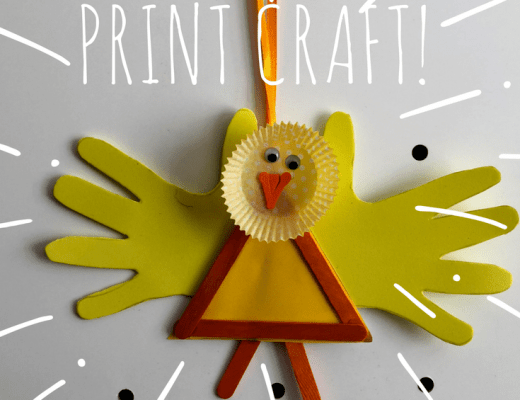 BIRD HAND PRINT CRAFT!