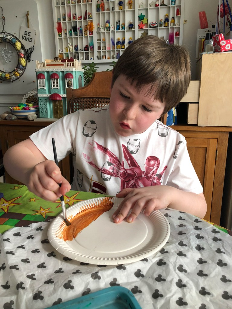paper plate painting