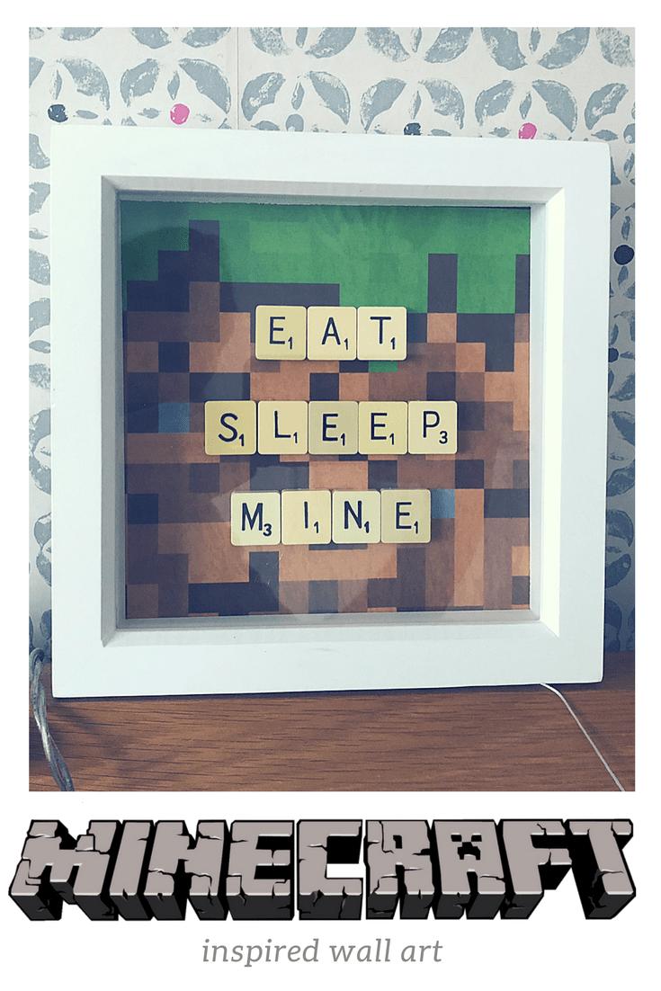 Minecraft inspired wall art