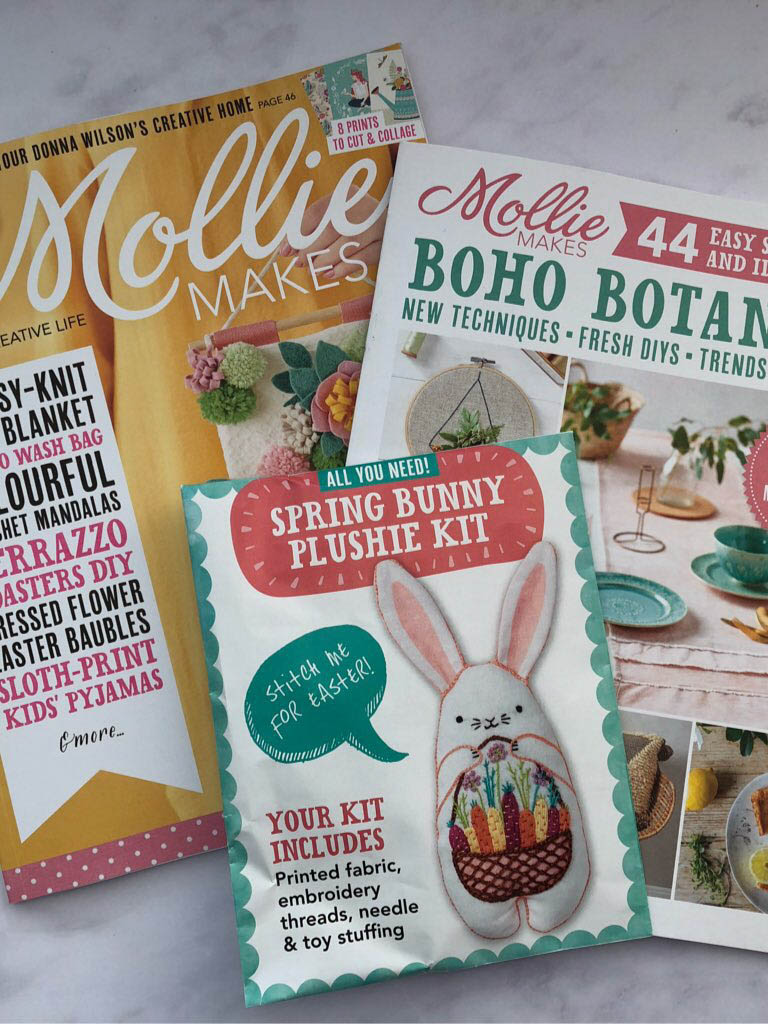 Mollie Makes embroidery kit