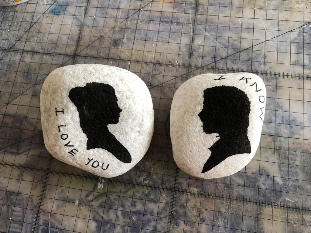 Star Wars painted rocks